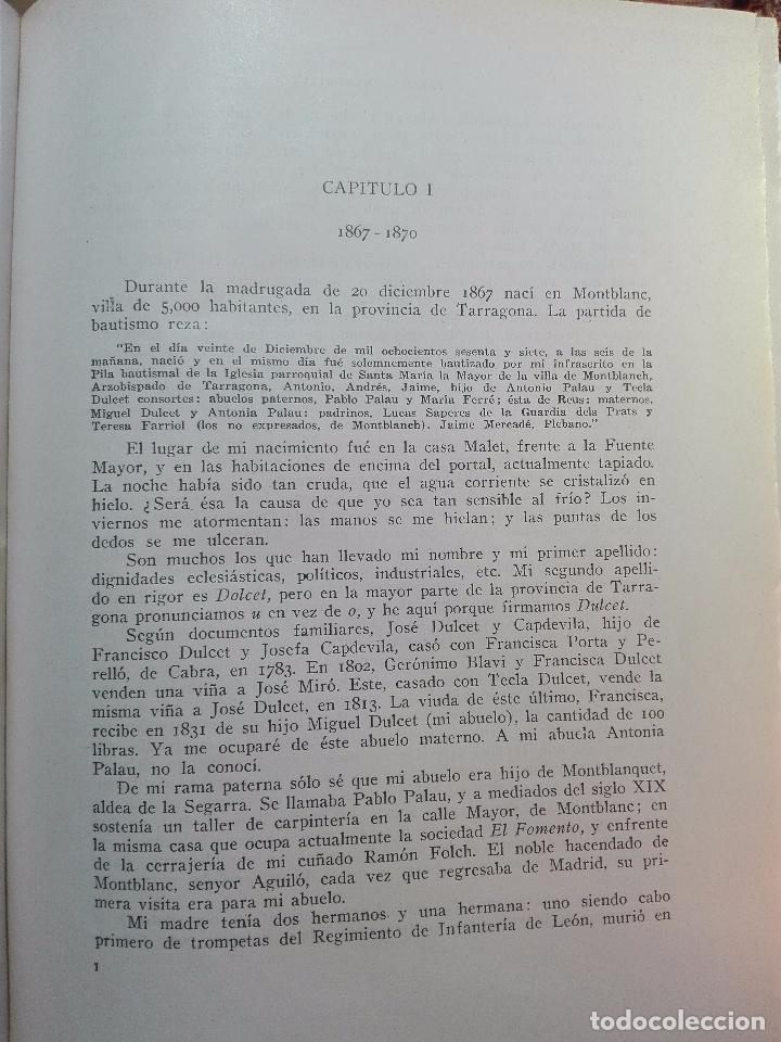 Libros antiguos: MEMORIAS DE UN LIBRERO CATALÁN - 1867-1935 - ANTONIO PALAU Y DULCET - BARCELONA - 1935 - - Foto 5 - 100473347