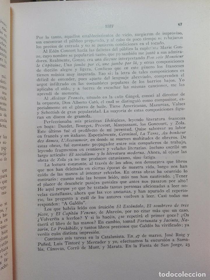 Libros antiguos: MEMORIAS DE UN LIBRERO CATALÁN - 1867-1935 - ANTONIO PALAU Y DULCET - BARCELONA - 1935 - - Foto 6 - 100473347