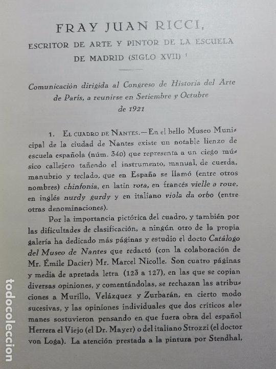Libros antiguos: LA VIDA Y LA OBRA DE JUAN RICCI - ELÍAS TORMO Y MONZÓ - 2 TOMOS - MADRID - 1930 - - Foto 6 - 101320755