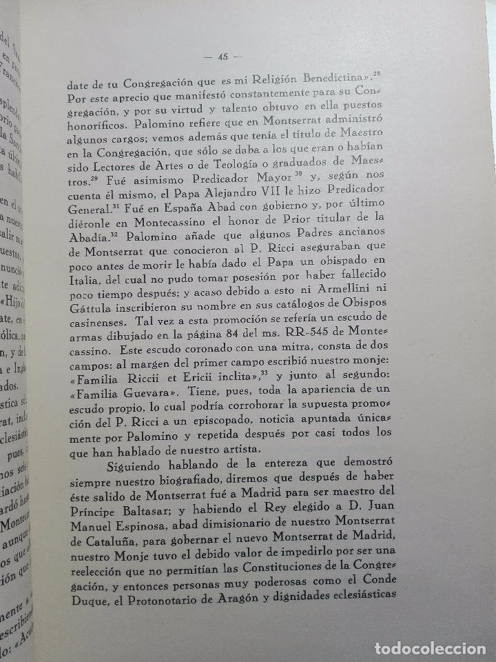 Libros antiguos: LA VIDA Y LA OBRA DE JUAN RICCI - ELÍAS TORMO Y MONZÓ - 2 TOMOS - MADRID - 1930 - - Foto 7 - 101320755