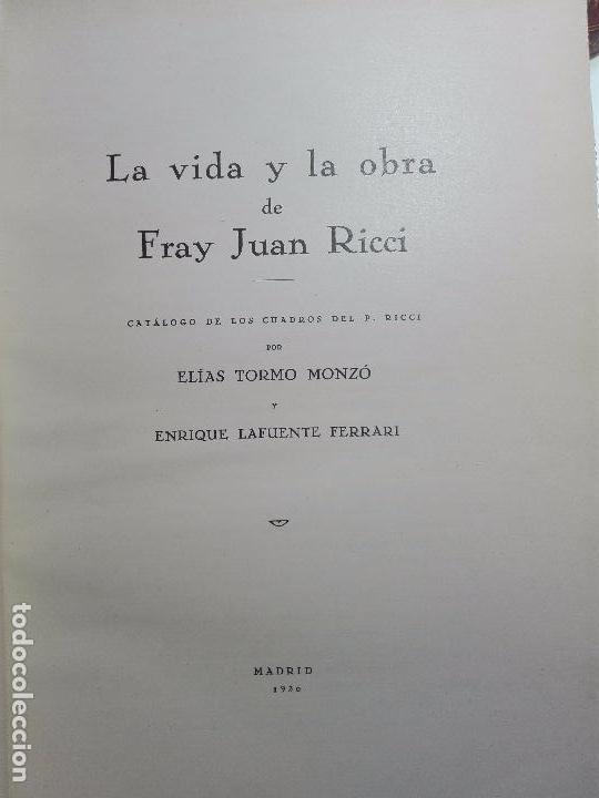 Libros antiguos: LA VIDA Y LA OBRA DE JUAN RICCI - ELÍAS TORMO Y MONZÓ - 2 TOMOS - MADRID - 1930 - - Foto 19 - 101320755