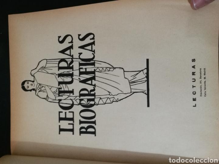 Libros antiguos: LECTURAS BIOGRAFICAS / NOVELAS CORTAS DE REVISTA LECTURAS ARTE Y LITERATURA 30S.TOMO ÚNICO VER INFO - Foto 3 - 101323167