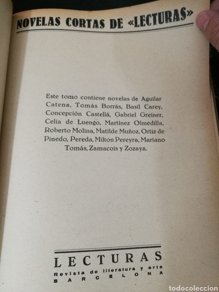 Libros antiguos: LECTURAS BIOGRAFICAS / NOVELAS CORTAS DE REVISTA LECTURAS ARTE Y LITERATURA 30S.TOMO ÚNICO VER INFO - Foto 36 - 101323167