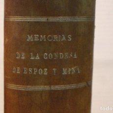 Libros antiguos: MEMORIAS DE LA CONDESA DE ESPOZ Y MINA,1910. Lote 101517783