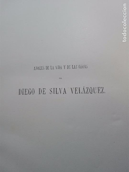 Libros antiguos: ANALES DE LA VIDA Y LAS OBRAS DE DIEGO DE SILVA VELAZQUEZ - G. CRUZADA VILLAMIL - MADRID - 1885 - - Foto 3 - 102059167