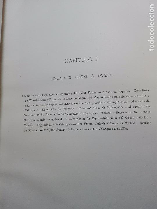 Libros antiguos: ANALES DE LA VIDA Y LAS OBRAS DE DIEGO DE SILVA VELAZQUEZ - G. CRUZADA VILLAMIL - MADRID - 1885 - - Foto 5 - 102059167