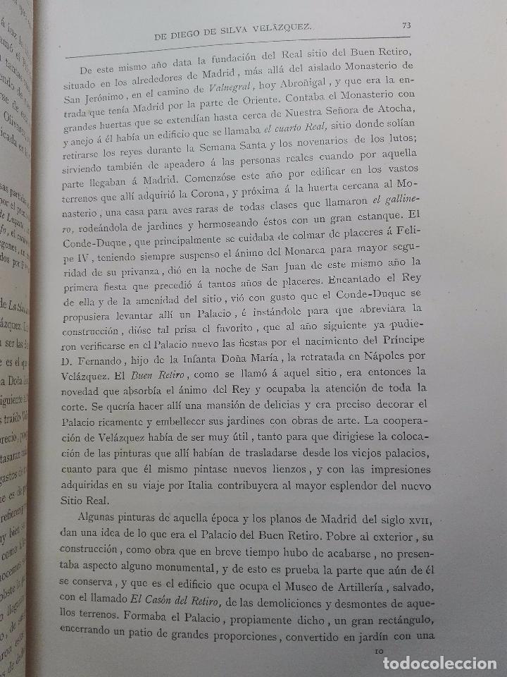 Libros antiguos: ANALES DE LA VIDA Y LAS OBRAS DE DIEGO DE SILVA VELAZQUEZ - G. CRUZADA VILLAMIL - MADRID - 1885 - - Foto 8 - 102059167
