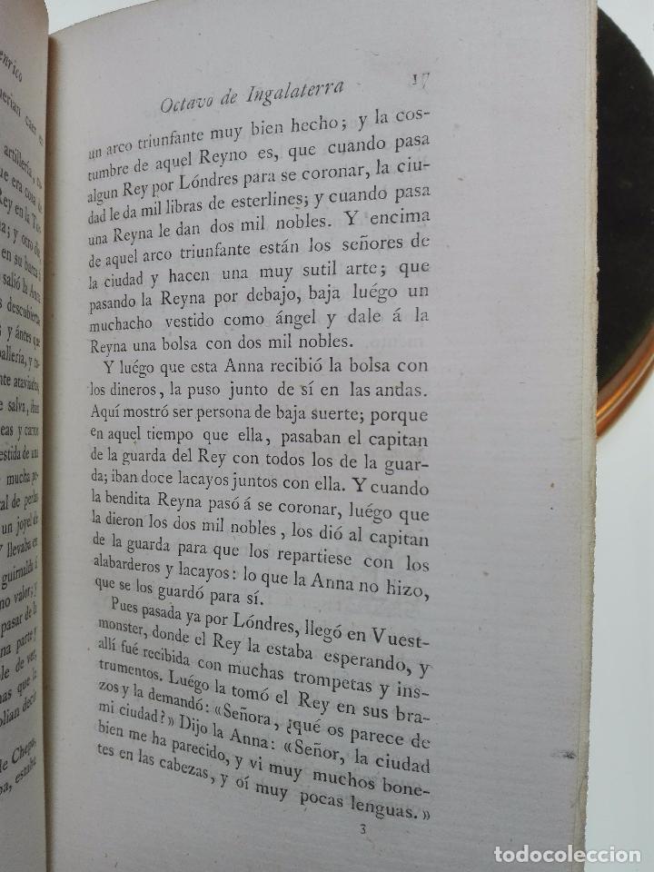 Libros antiguos: LIBROS DE ANTAÑO - CRÓNICA DEL REY ENRICO OTAVO DE INGLATERRA - POR EL MARQUES DE MOLINS - 1874 - - Foto 4 - 104449219