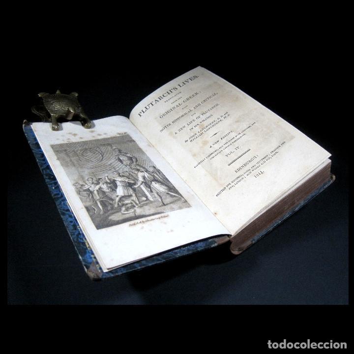 Libros antiguos: Año 1811 Julio César Alejandro Magno Pompeyo Antigua Grecia y Roma Plutarco Vidas paralelas Grabado - Foto 15 - 106969987