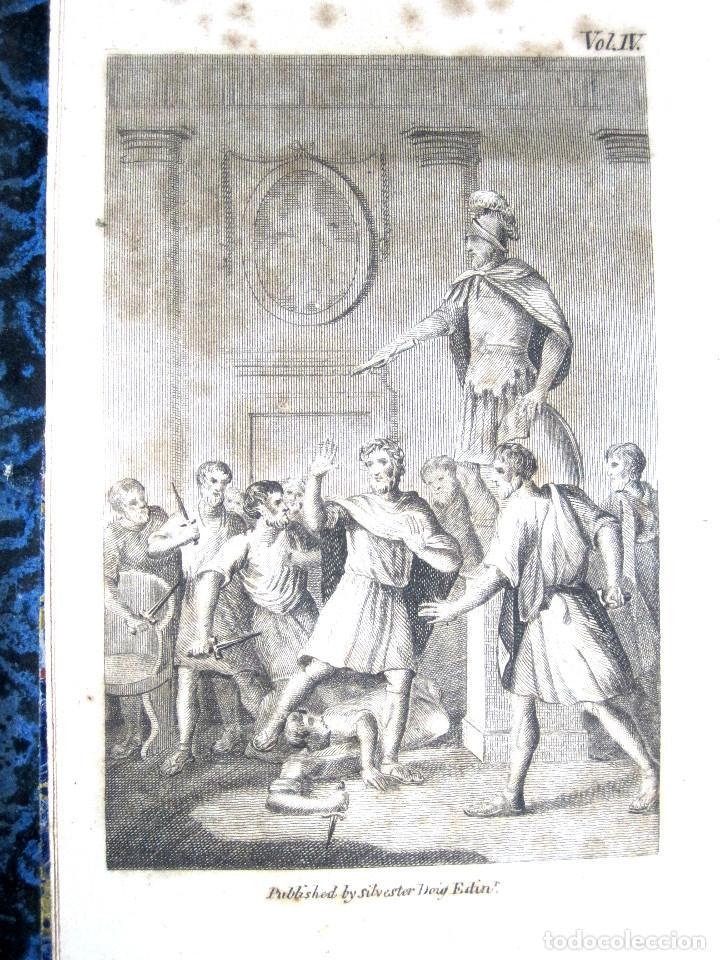 Libros antiguos: Año 1811 Julio César Alejandro Magno Pompeyo Antigua Grecia y Roma Plutarco Vidas paralelas Grabado - Foto 5 - 106969987