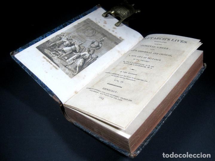 Libros antiguos: Año 1811 Julio César Alejandro Magno Pompeyo Antigua Grecia y Roma Plutarco Vidas paralelas Grabado - Foto 3 - 106969987
