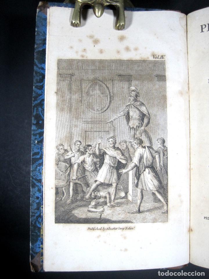 Libros antiguos: Año 1811 Julio César Alejandro Magno Pompeyo Antigua Grecia y Roma Plutarco Vidas paralelas Grabado - Foto 18 - 106969987