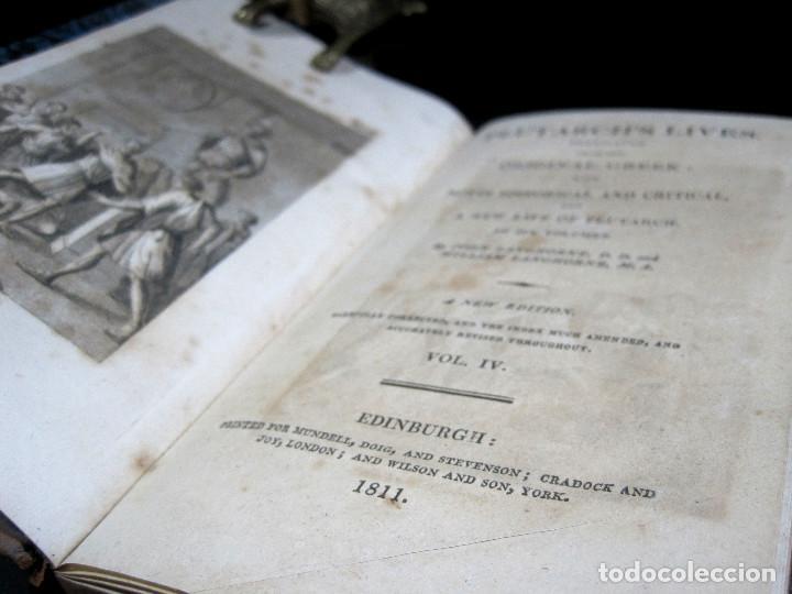 Libros antiguos: Año 1811 Julio César Alejandro Magno Pompeyo Antigua Grecia y Roma Plutarco Vidas paralelas Grabado - Foto 7 - 106969987