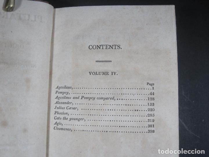 Libros antiguos: Año 1811 Julio César Alejandro Magno Pompeyo Antigua Grecia y Roma Plutarco Vidas paralelas Grabado - Foto 8 - 106969987
