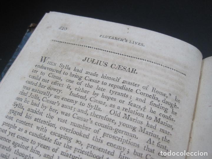 Libros antiguos: Año 1811 Julio César Alejandro Magno Pompeyo Antigua Grecia y Roma Plutarco Vidas paralelas Grabado - Foto 11 - 106969987
