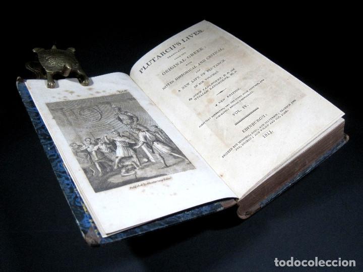Libros antiguos: Año 1811 Julio César Alejandro Magno Pompeyo Antigua Grecia y Roma Plutarco Vidas paralelas Grabado - Foto 13 - 106969987