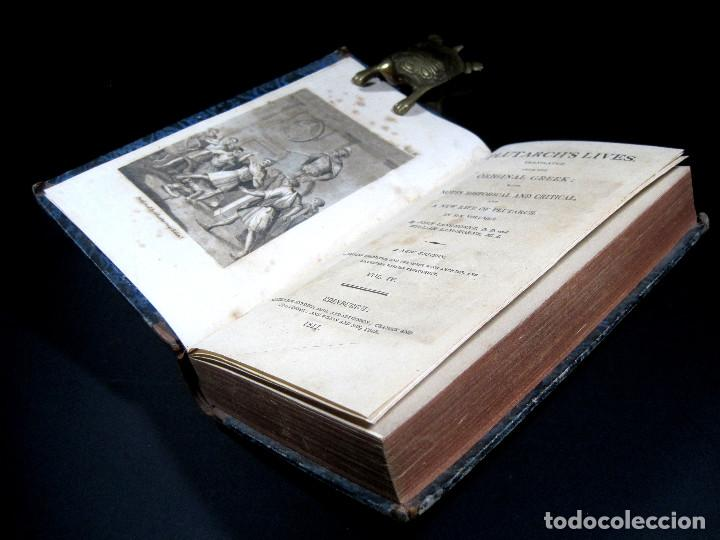 Libros antiguos: Año 1811 Julio César Alejandro Magno Pompeyo Antigua Grecia y Roma Plutarco Vidas paralelas Grabado - Foto 14 - 106969987