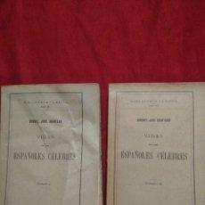 Libros antiguos: VIDAS DE LOS ESPAÑOLES CELEBRES TOMO I 1927 Y TOMO II 1928 MANUEL JOSE QUINTANA 1928. Lote 107454343