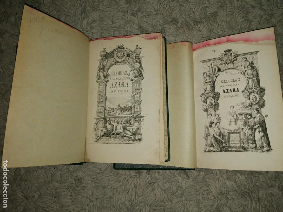 Libros antiguos: Glorias del Caballero Azara en el S. XIX Tomos I y II 1852-54 Basilio Castellanos de Losada Ed. Lujo - Foto 2 - 109050139