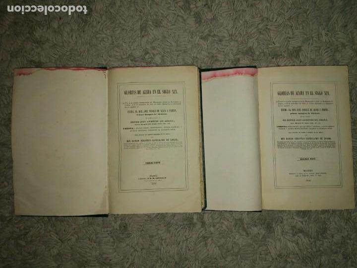 Libros antiguos: Glorias del Caballero Azara en el S. XIX Tomos I y II 1852-54 Basilio Castellanos de Losada Ed. Lujo - Foto 3 - 109050139