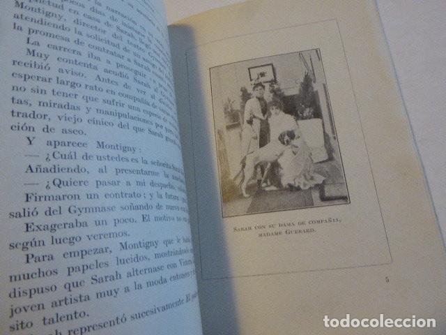 Libros antiguos: SARAH BERNHARDT. EMILIO GASCÓ CONTELL. CASA EDITORIAL FRANCO-IBERO-AMERICANA, 1927. 186 PP. ILUS - Foto 3 - 109152527