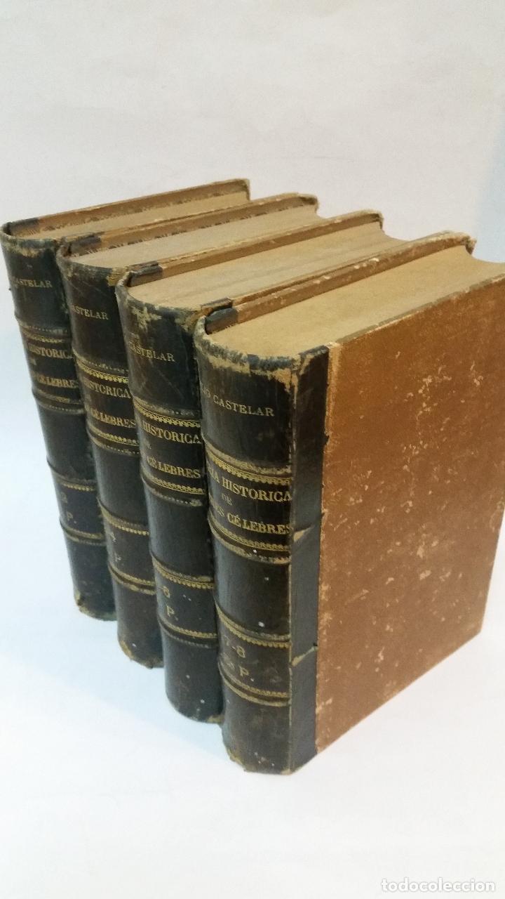 Libros antiguos: 1886 - EMILIO CASTELAR - GALERÍA HISTÓRICA DE MUJERES CÉLEBRES - 8 TOMOS, COMPLETO - Foto 2 - 109833335