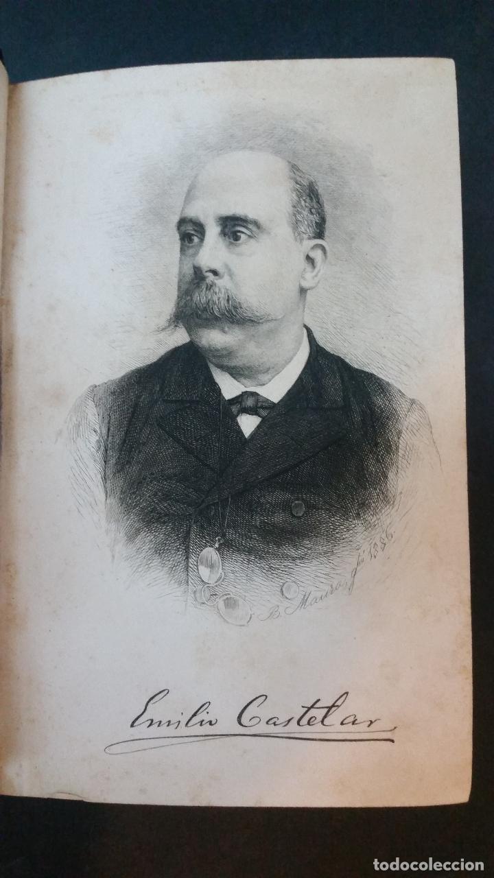 Libros antiguos: 1886 - EMILIO CASTELAR - GALERÍA HISTÓRICA DE MUJERES CÉLEBRES - 8 TOMOS, COMPLETO - Foto 3 - 109833335