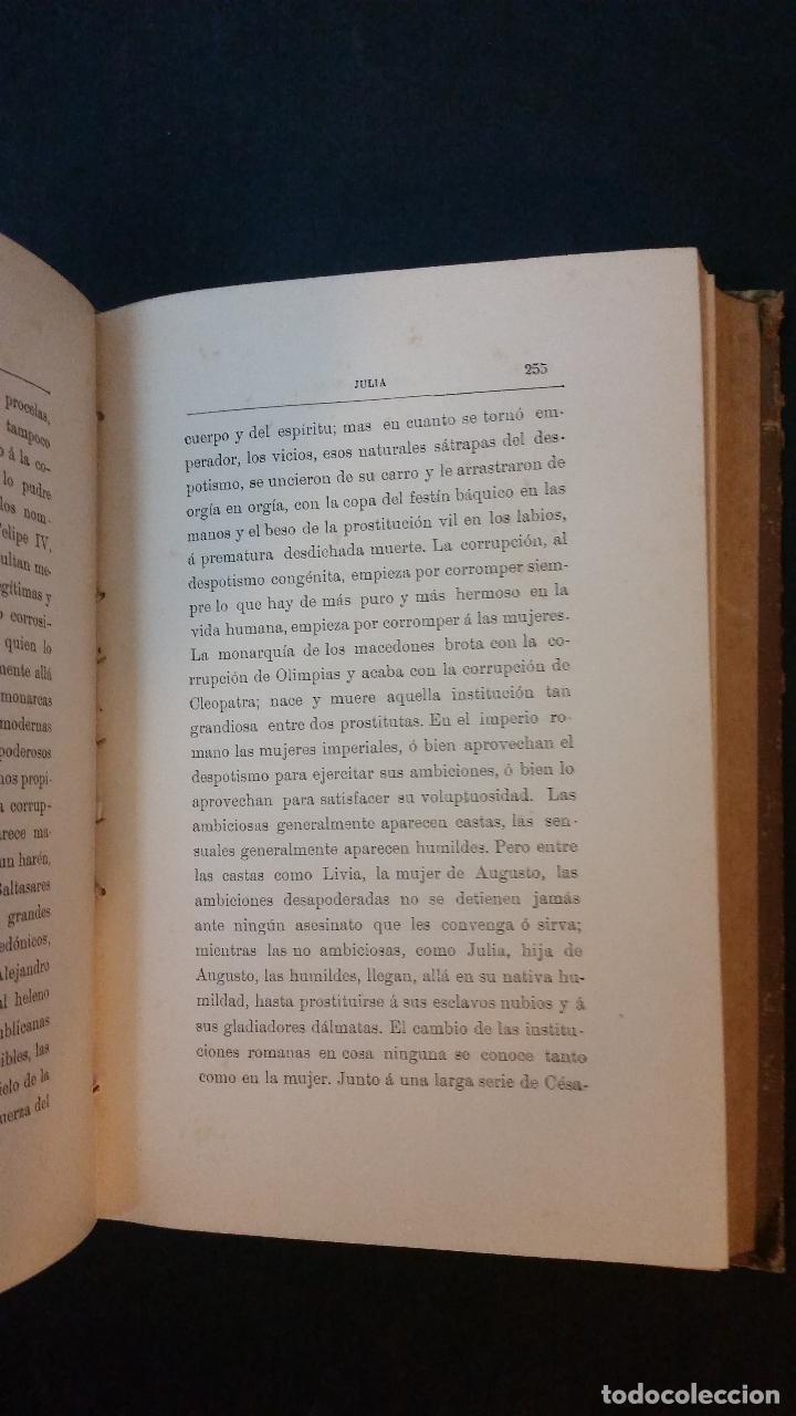 Libros antiguos: 1886 - EMILIO CASTELAR - GALERÍA HISTÓRICA DE MUJERES CÉLEBRES - 8 TOMOS, COMPLETO - Foto 8 - 109833335