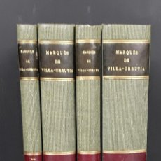 Libros antiguos: MARQUÉS DE VILLA URRUTIA. 4 VOLÚMENES. F. BELTRÁN. 1927/1928.. Lote 110636239