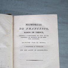 Libros antiguos: MEMORIAS DE FRANCISCO-BARON DE TRENCK-OBRA COMPLETA-MADRID 1804. Lote 111102315