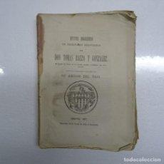 Libros antiguos: APUNTES BIOGRAFICOS DE ESCRITORES SEGOVIANOS POR TOMAS BAEZA Y GONZALEZ, SEGOVIA 1877. Lote 111621307