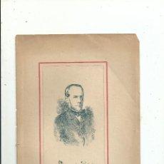 Libros antiguos: POLICARPO DE BALZOLA RETRATO + BIOGRAFÍA (6 PP.) C. 1890 GUIPUZCOA. Lote 111688827