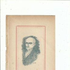 Libros antiguos: JOAQUIN MARIA DE FERRER RETRATO + BIOGRAFÍA (7 PP.) C. 1890 GUIPUZCOA. Lote 220531397