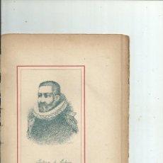 Libros antiguos: BALTASAR DE ECHAVE RETRATO + BIOGRAFÍA (6 PP.) C. 1890 GUIPUZCOA MEXICO. Lote 111692059