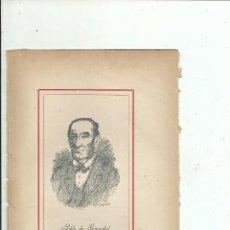 Libros antiguos: PABLO DE GOROSABEL RETRATO + BIOGRAFÍA (7 PP.) C. 1890 GUIPUZCOA MEXICO. Lote 111692175