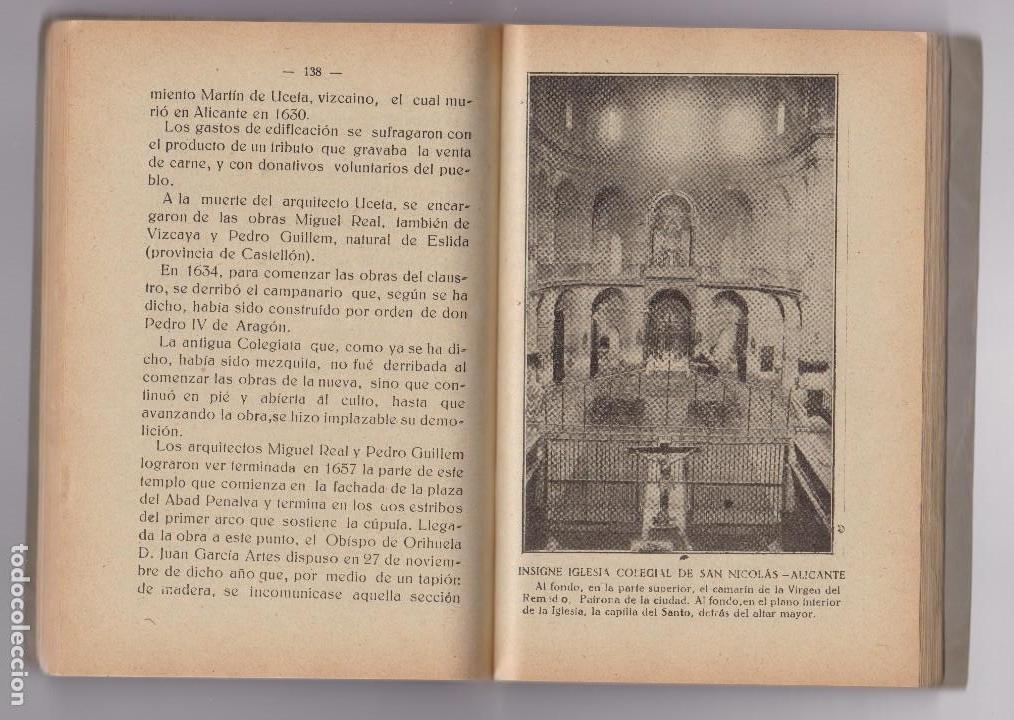 Alte Bücher: SAN NICOLÁS DE BARI PATRONO DE ALICANTE. VIDA MILAGROS Y CULTO. IMP.:LUCENTUM 1928 - Foto 2 - 112815811