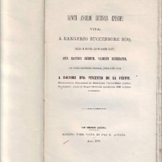 Libros antiguos: RANGERIUS: SANCTI ANSELMI LUCENSIS EPISCOPI VITA (VIDA DE SAN ANSELMO DE LUCCA). Lote 113099975