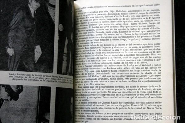 Libros antiguos: LUCKY LUCIANO - Rey de las drogas y de la prostitución - Foto 3 - 113107863