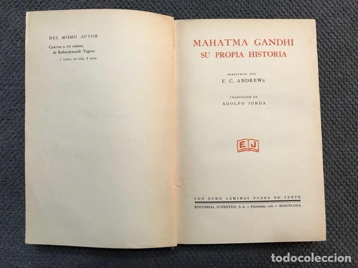 Libros antiguos: MAHATMA GANDHI su propia historia (a.1931) - Foto 2 - 113409518