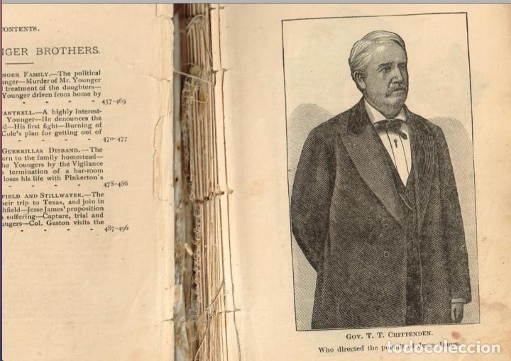 Alte Bücher: VIDA Y AVENTURAS DE JESSE JAMES Y DE LOS HNOS YOUNGER, FAMOSOS FORAJIDOS DEL OESTE. 1882 ¡VER FOTOS! - Foto 6 - 116204363