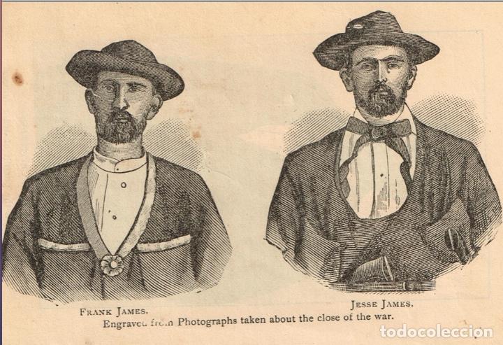 Alte Bücher: VIDA Y AVENTURAS DE JESSE JAMES Y DE LOS HNOS YOUNGER, FAMOSOS FORAJIDOS DEL OESTE. 1882 ¡VER FOTOS! - Foto 7 - 116204363