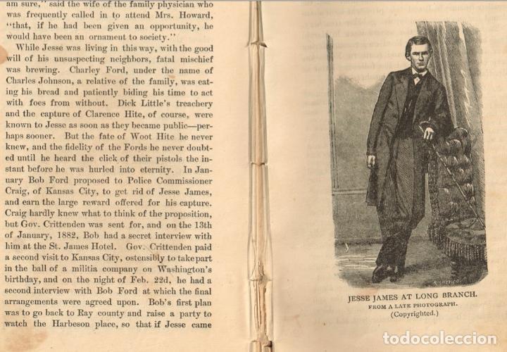 Alte Bücher: VIDA Y AVENTURAS DE JESSE JAMES Y DE LOS HNOS YOUNGER, FAMOSOS FORAJIDOS DEL OESTE. 1882 ¡VER FOTOS! - Foto 23 - 116204363