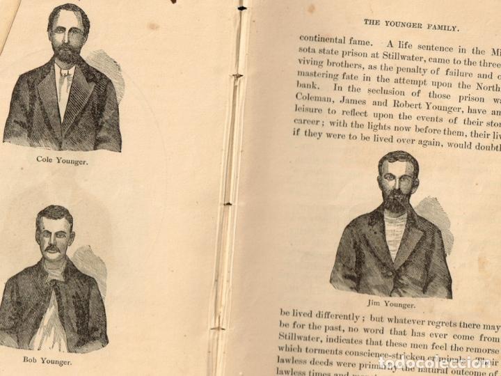 Alte Bücher: VIDA Y AVENTURAS DE JESSE JAMES Y DE LOS HNOS YOUNGER, FAMOSOS FORAJIDOS DEL OESTE. 1882 ¡VER FOTOS! - Foto 28 - 116204363