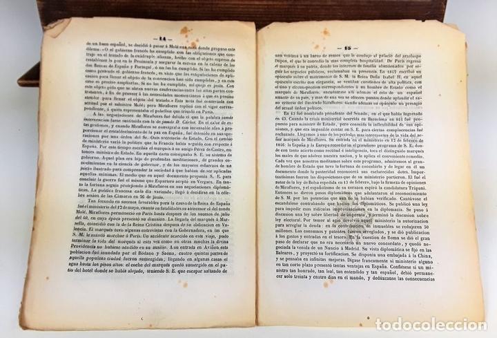 Libros antiguos: BIOGRAFÍA DEL EXCMO SR MARQUES DE MIRAFLORES. 1847. - Foto 3 - 117893743