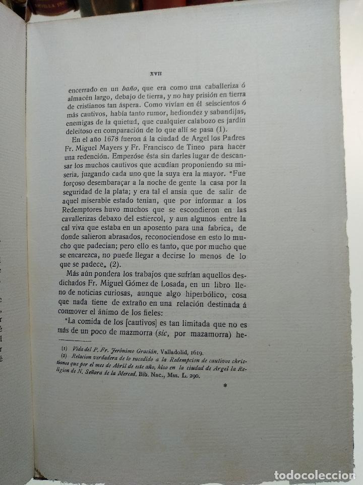 Libros antiguos: CAUTIVERO Y TRABAJOS DE DIEGO GALÁN - NATURAL DE CONSUEGRA Y VECINO DE TOLEDO - 1923 - MADRID - - Foto 6 - 118285279