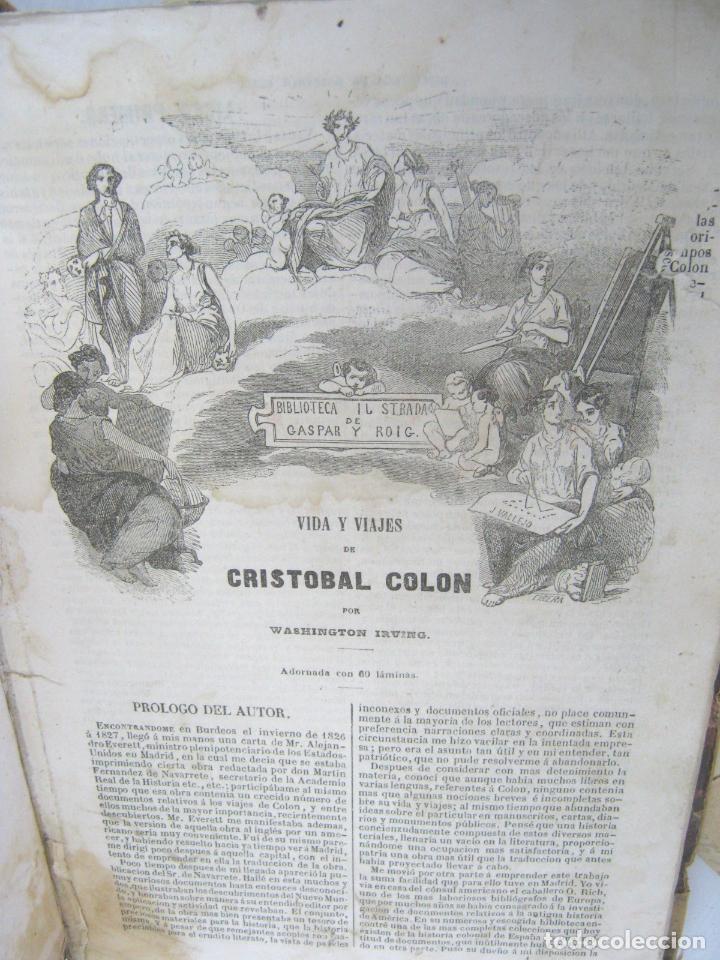 S.XIX PRECIOSO LIBRO AÑO 1827 - CRISTÓBAL COLÓN (Libros Antiguos, Raros y Curiosos - Biografías )