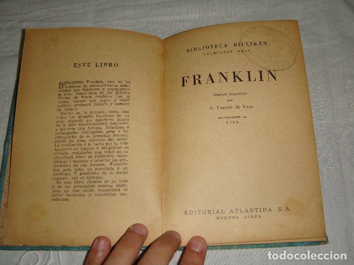 Libros antiguos: FRANKLIN. A. Larran de Vere. - Foto 3 - 122469863
