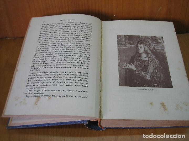 Libros antiguos: Los Borgia. Cesar Borgia 1945 - Foto 4 - 122994735