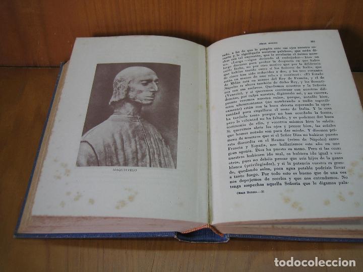 Libros antiguos: Los Borgia. Cesar Borgia 1945 - Foto 7 - 122994735