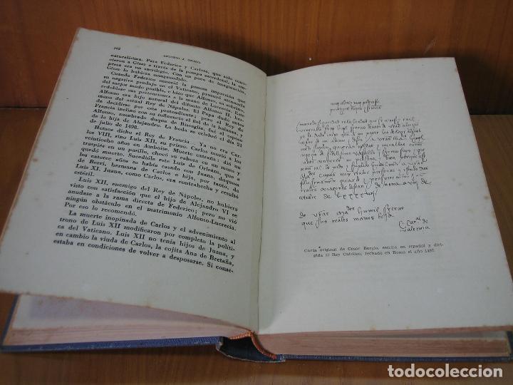 Libros antiguos: Los Borgia. Cesar Borgia 1945 - Foto 8 - 122994735